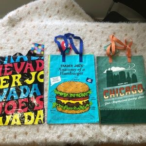 NEW 3 Lot of Trader Joe's Re-Usable Bags